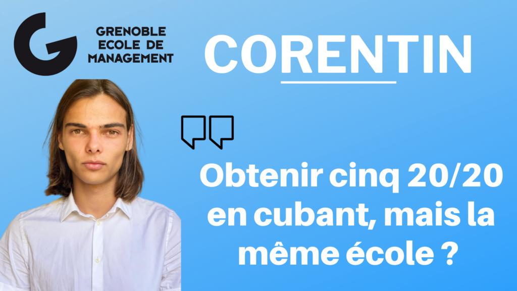 Corentin Barczyk – Cuber, obtenir cinq 20:20 mais la même école