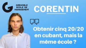 Corentin Barczyk – Cuber, obtenir cinq 20/20 mais la même école